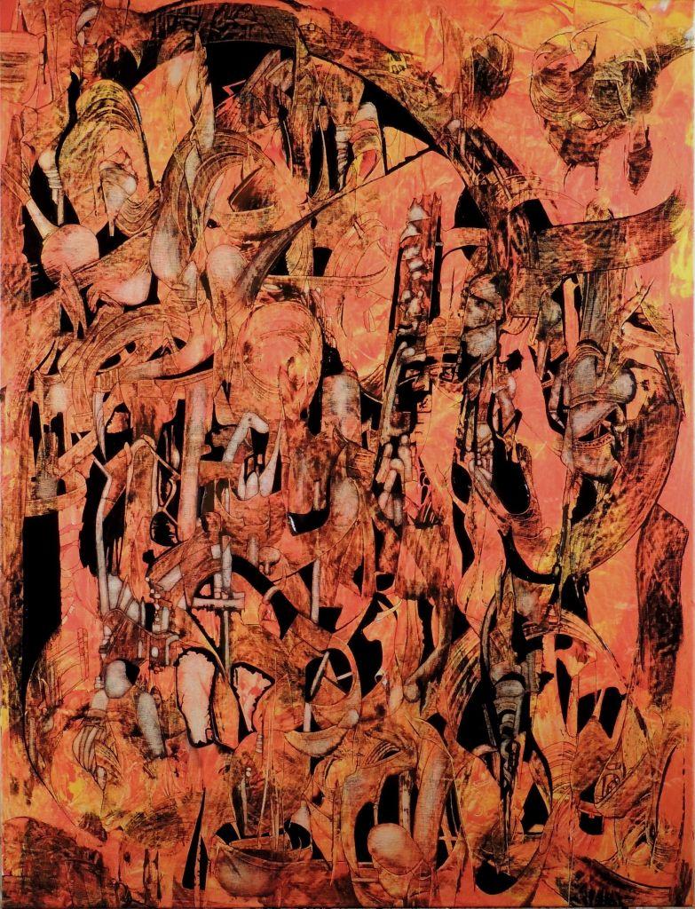 les yeux du moucharabieh jean claude savi peinture